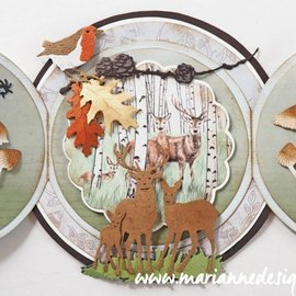 Marianne Design Stansning skabelon, Stansemal,  Marianne Design, Tiny's Deer Family, LR0615