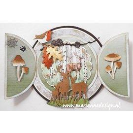 Marianne Design Snijmallen, Sjablonen,  Marianne Design, Tiny's Deer Family, LR0615