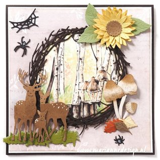 Marianne Design Per punzonare con una punzonatrice per creare effetti sorprendenti per le tue carte, decorazioni e pagine di album