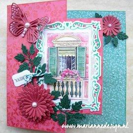 Marianne Design plantilla de perforación: Conjunto de la flor de Anja