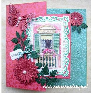 Marianne Design Ponsen sjabloon: Anja's Flower set