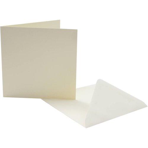 KARTEN und Zubehör / Cards Cartes et enveloppes, 5 pièces, 135x135mm, 240gsm
