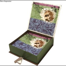 Objekten zum Dekorieren / objects for decorating Eske med innerboks, veldig stabil, 17,0 x 18,0 x 5,5 cm
