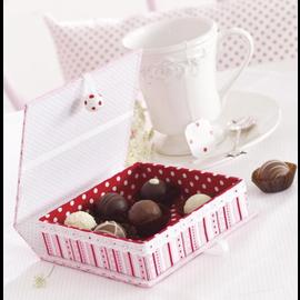 Objekten zum Dekorieren / objects for decorating Caja con caja interior, muy estable, 17.0 x 18.0 x 5.5 cm