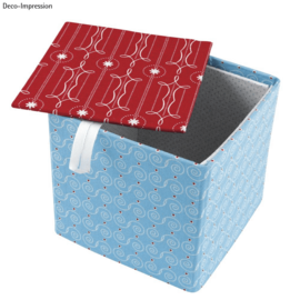Objekten zum Dekorieren / objects for decorating Box with separate lid, very stable, 12 x 12 x 11 cm