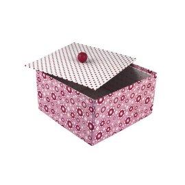 Objekten zum Dekorieren / objects for decorating Kasse med separat låg, meget stabil, 20 x 20 x 11 cm