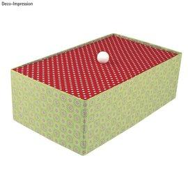 Objekten zum Dekorieren / objects for decorating Eske med separat lokk, veldig stabil, 19,5 x 33 x 11 cm