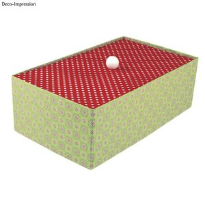 Objekten zum Dekorieren / objects for decorating Kasse med separat låg, meget stabil, 19,5 x 33 x 11 cm