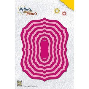 """Nellie Snellen Matrices de découpe, MFD094 Multi Frame Die Christmas Frames """"oval"""" max. 13,1 x 10 cm"""