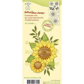 Leane Creatief - Lea'bilities und By Lene Stamp, sunflowers