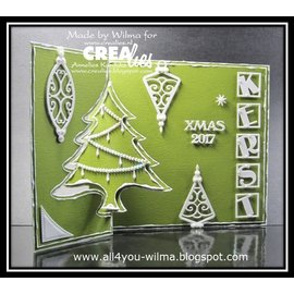 Crealies und CraftEmotions Ponsen en embossing sjabloon :. Card geen 25 punch