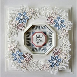 CREATIVE EXPRESSIONS und COUTURE CREATIONS cutting and emboss template: Flower Corner