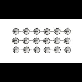 DEKOBAND / RIBBONS / RUBANS ... Deco ketting, zilver, kralen zijn ongeveer 4 mm, meter goederen