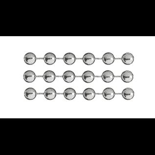 DEKOBAND / RIBBONS / RUBANS ... Deko-Kette,  Silber, Perlen sind ca. 4mm, Meterwaren