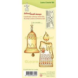 Leane Creatief - Lea'bilities und By Lene Rubberstempel, siliconen combinatiestempel kerstbal en kaars
