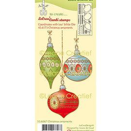 Leane Creatief - Lea'bilities und By Lene Rubberen stempel, kerstballen
