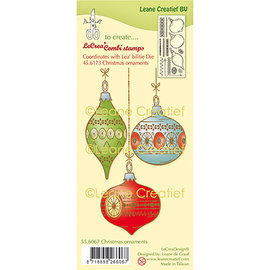 Leane Creatief - Lea'bilities und By Lene Rubber stamp, Christmas balls