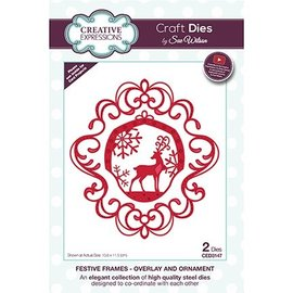 CREATIVE EXPRESSIONS und COUTURE CREATIONS Cutting template: Christmas ornament with reindeer