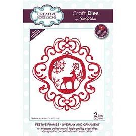 CREATIVE EXPRESSIONS und COUTURE CREATIONS Plantilla de corte: ornamento de Navidad con renos