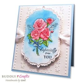 Crafter's Companion Transparent Stempel,  Rose Garden