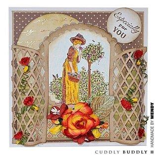 Crafter's Companion Transparante stempel, Rose Garden