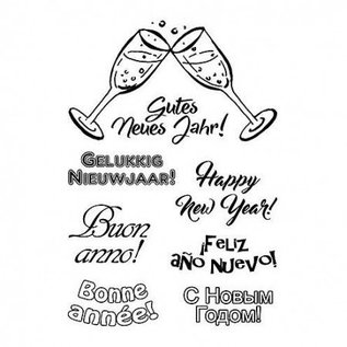 Stempel / Stamp: Transparent clear text stamp in various languages
