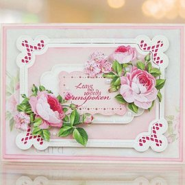 Tattered Lace NEW! cutting die: frame with roses