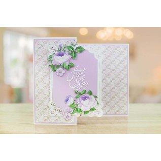 Tattered Lace NIEUW! Snij en embossmal / Sjabloon:  frame met rosen