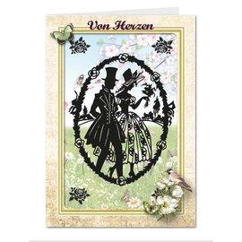 BASTELSETS / CRAFT KITS Viktoriansk papirutklipp passkort