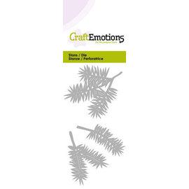 Crealies und CraftEmotions découpage et gaufrage: branches de sapin, Card 5x10cm