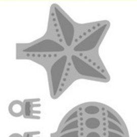 Crealies und CraftEmotions Stanzschablonen: Weihnachtskugeln