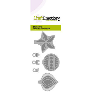 Craftemotions cutting dies: Christmas balls. For punching with a punching machine to create stunning effects for your cards, decorations and scrapbook pages