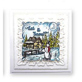 CREATIVE EXPRESSIONS und COUTURE CREATIONS frimærke, vinterlandskab ved kreative udtryk