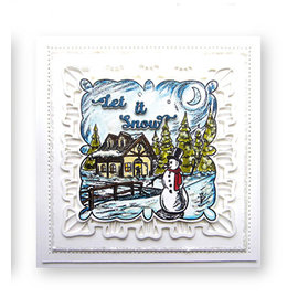 CREATIVE EXPRESSIONS und COUTURE CREATIONS sello, paisaje de invierno por expresiones creativas