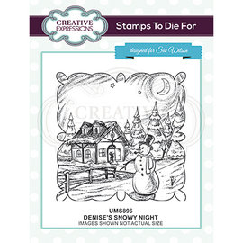 CREATIVE EXPRESSIONS und COUTURE CREATIONS stamp, winter landscape by creative expressions