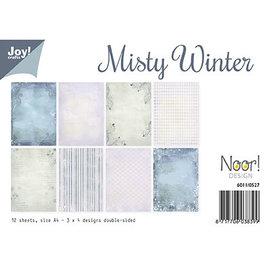 Karten und Scrapbooking Papier, Papier blöcke Tarjeta de diseño y papel para álbumes de recortes, Misty Winter, 12 hojas, impresión a doble cara, diseños 3 x 4.
