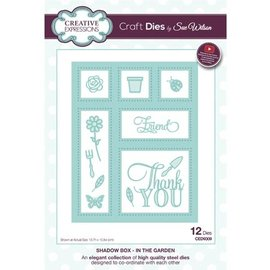 CREATIVE EXPRESSIONS und COUTURE CREATIONS Plantillas de corte, Creative Expressions 3D Frame 13.7 x 10.8cm