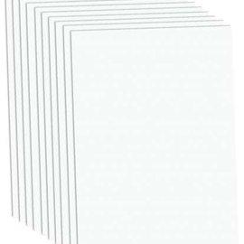 Karten und Scrapbooking Papier, Papier blöcke Papier cartonné de luxe A4, 220 g / m², blanc, 10 feuilles