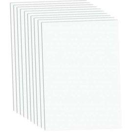 Karten und Scrapbooking Papier, Papier blöcke A4 Luxury Cardstock, 220 gsm, white, 10 sheets