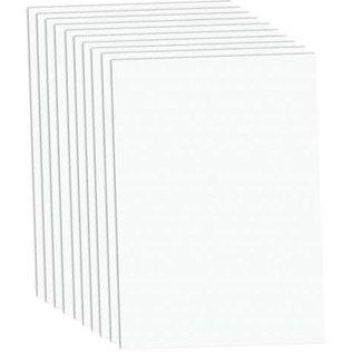 Karten und Scrapbooking Papier, Papier blöcke A4 Luxe Cardstock, 220 g / m², wit, 10 vellen