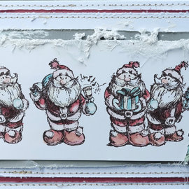 LaBlanche Stamp of LaBlanche: 5 cute Santa Clauses