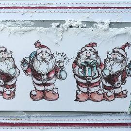 LaBlanche Stempel von LaBlanche: 5 niedliche Weihnachtsmänner