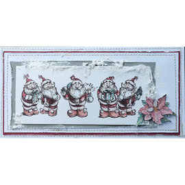 LaBlanche Timbre de LaBlanche: 5 jolies pères Noël