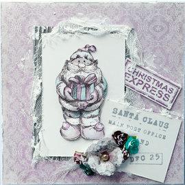 LaBlanche Timbre LaBlanche: Père Noël avec cadeau