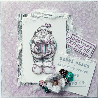 LaBlanche LaBlanche-stempel: Julemanden med gave