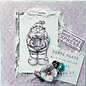 LaBlanche LaBlanche stamp: Santa Claus with gift