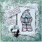 LaBlanche LaBlanche-stempel: Kerstman met cadeau