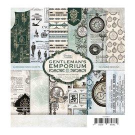 CREATIVE EXPRESSIONS und COUTURE CREATIONS Papier Block - Gentleman's Emporium, 152.4 x 152.4mm