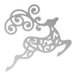 Plantillas de corte ,  renos, 50 x 50 mm | 1.9 x 1.9in