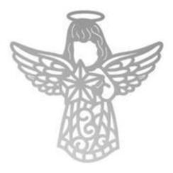 Plantillas de corte , angel, 50 x 50 mm